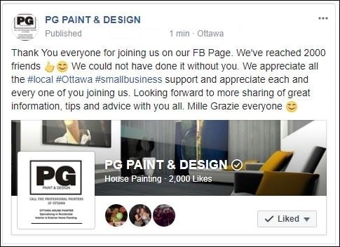 PG Paint & Design Painters in Ottawa on Facebook