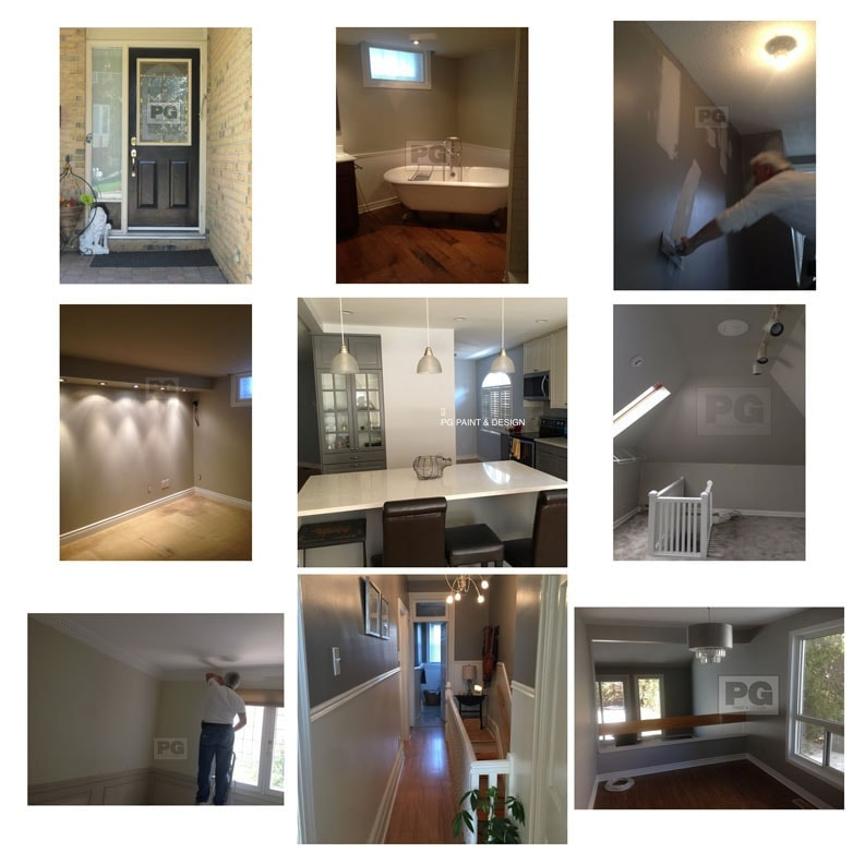 various projects by painters PG PAINT DESIGN painting company in Ottawa