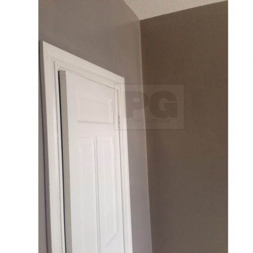 interior painting with gray paint from painters in Ottawa PG PAINT & DESIGN