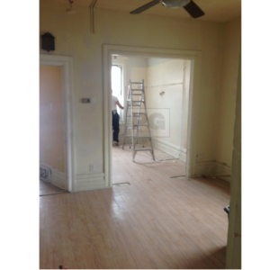 before interior painting of living and dining room