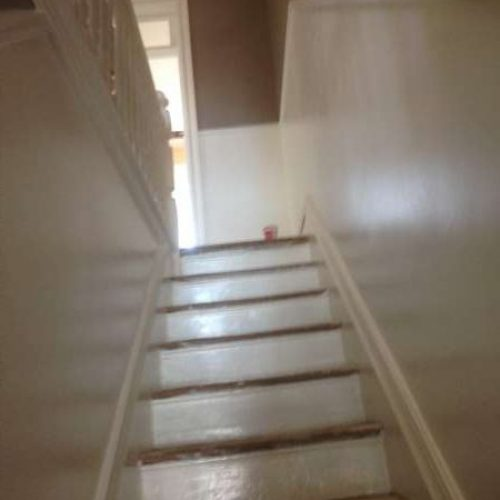 interior painting of steps and stairway in a house in the Glebe Ottawa