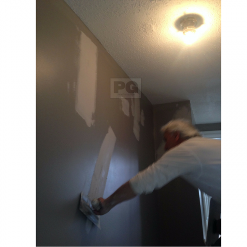 patching drywall before painting