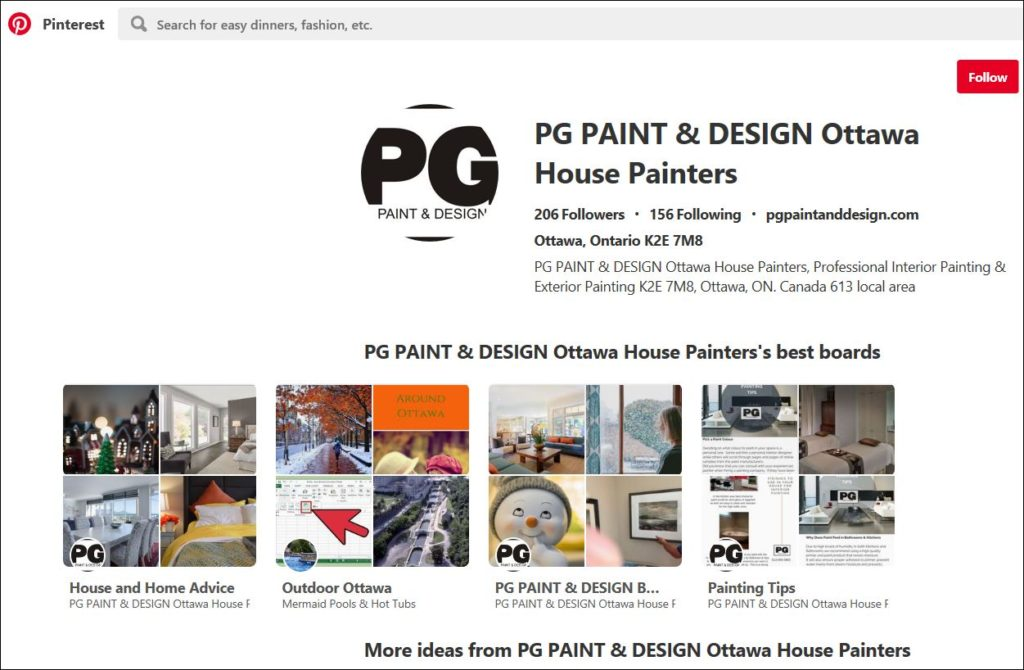 pinterest for PG PAINT & DESIGN Ottawa House Painters