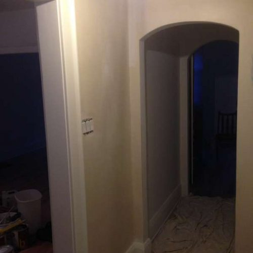 interior painting of front entrance hallway corridor in a house in The Glebe Ottawa