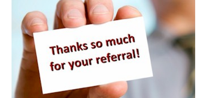 sign that reads thank you for the referral and testimonials reviews for painters in Ottawa PG PAINT & DESIGN