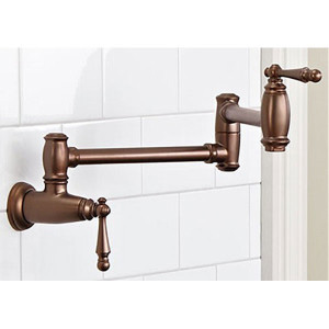 bronze colour fancy faucet in traditional style