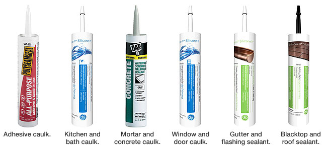 different caulk product from Lowes