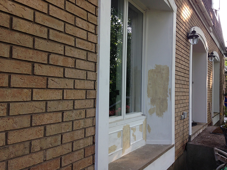exterior house window ready for painting by PG Paint & Design
