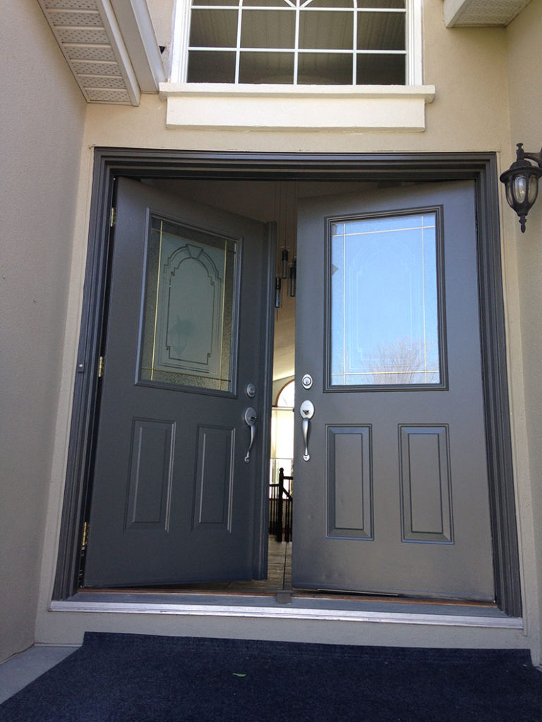 exterior painting of front doors painted by PG PAINT & DESIGN Professional House Painters in Ottawa