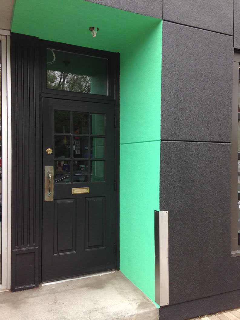 exterior painting of the Rowan restaurant in Ottawa done by PG PAINT & DESIGN painting company