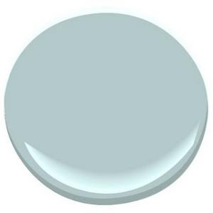 gossamer blue paint colour in gloss finish for interior painting of walls or ceiling