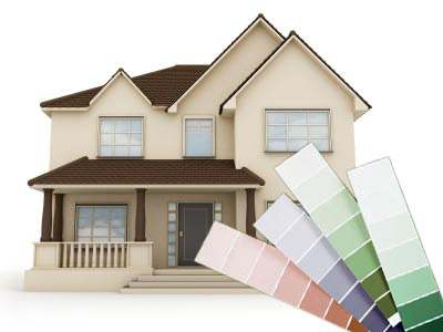 house painting exterior and various colour chart