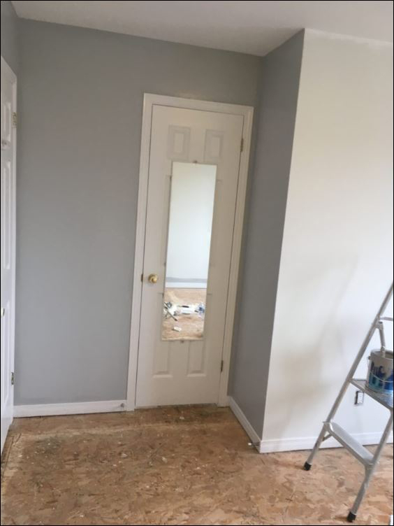 interior painting of walls in bedroom of house painted by PG PAINT & DESIGN