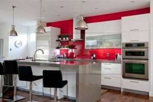 kitchen freshly painted by PG Paint & Design