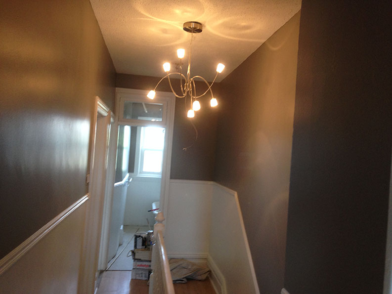 interior painting of hallway by Ottawa painters PG PAINT & DESIGN