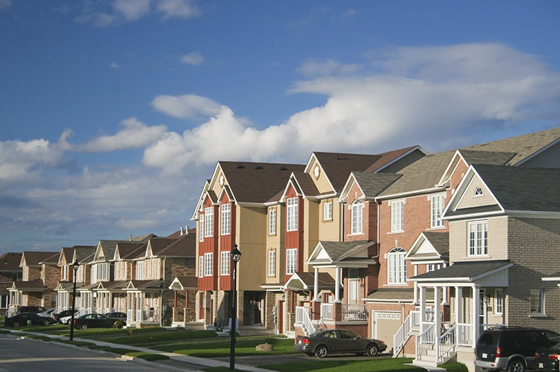 professional painted new townhouses in Ottawa