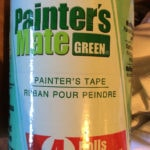 green painters tape used for painting