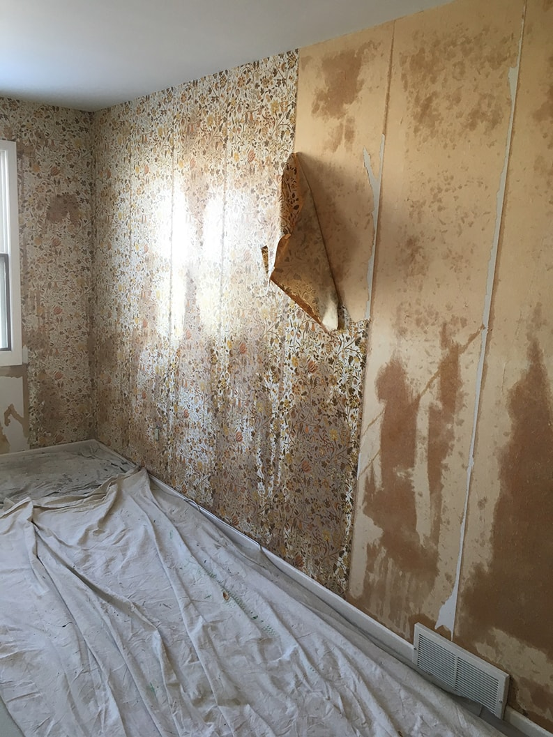 removal of wallpaper before painting