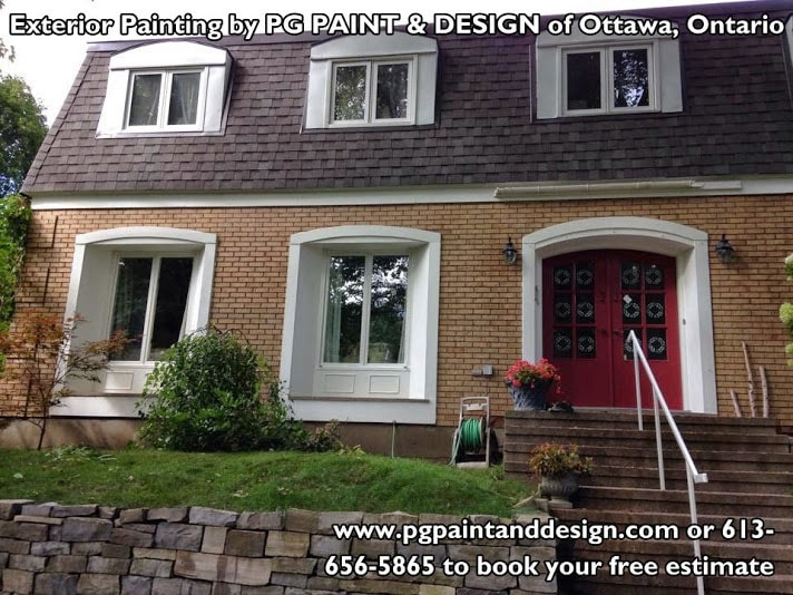 repainted house exterior by PG PAINT & DESIGN Rockcliffe area in Canada Ontario Ottawa