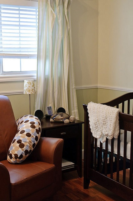 room in a house for the special use of young children painted in Guilford Green historic colour collection by Benjamin Moore