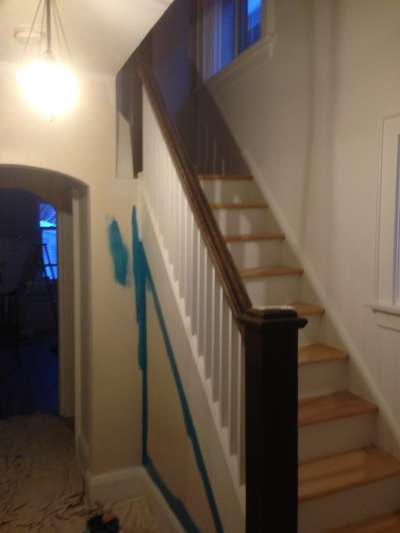 stairs painted by PG PAINT & DESIGN of a house in Ottawa Canada