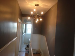 interior painting of entrance hallway and stairway