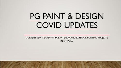 covid updates for painters in Ottawa